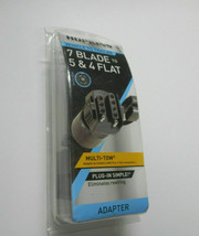 Hopkins Vehicle To Trailer Adapter. 7 Blade To 5 and 4 Flat.# 47385. Bra... - $14.83