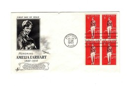 FDC ENVELOPE-HONORING AMELIA EARHART  BL4-1963 ART CRAFT CACHET BK12 - $3.88