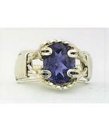 Iolite Silver Wire Wrap Ring sz 5 - $36.00