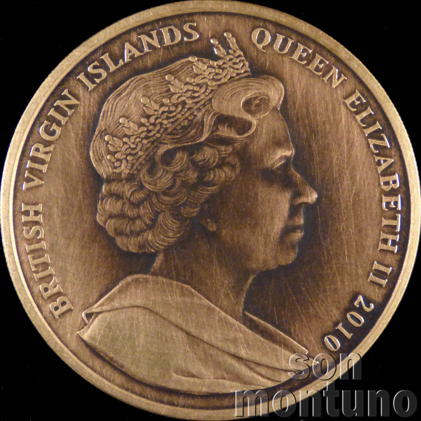 2017 British Virgin Islands $1 US Capitol Building Shaped coin