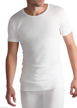 Mens Heat Holders Thermal Short Sleeve Vest & Long Johns Set White - $33.00