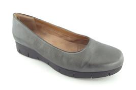 CLARKS Artisan Size 11 Pewter Metallic Platform Ballet Flats Shoes - $55.00
