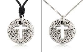New Chrisitan Cross Jesus Silver Pewter Charm Necklace Pendant Jewelry - $7.91+
