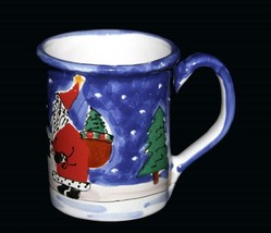 Large 16 Oz Christmas Santa Claus Bear Presents Trees Moon Mug Hungary NEW - £19.17 GBP