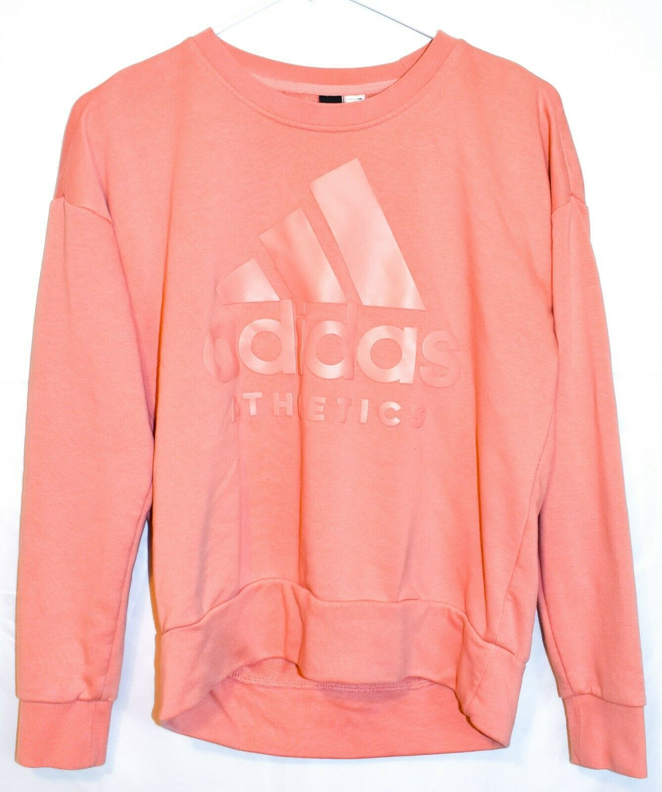 Adidas Athletics Women's Peach Pink Pullover Sweatshirt Size S A2B010