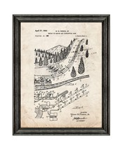 Artificial Snow Maker Patent Print Old Look with Black Wood Frame - $24.95+