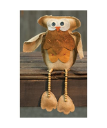 Owl Shelf Sitter Rustic Burlap Halloween Fall decor - $19.79