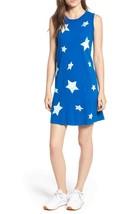 NWT $158 Current Elliott Jeans Muscle Tank Tee Shirt Dress Blue Star Pri... - $43.81