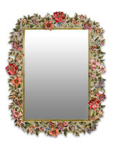 "Jay Strongwater ""Adelaide Leaf & Flower Mirror  - Jewel""  NEW - $24,650.00"