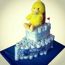 Ship Diaper Cake. Neutral baby shower centerpiece - $54.99
