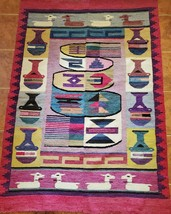 Art wall Tapestry wall hanging Paracas style Aspen Andes  - $225.00