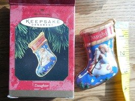 "Hallmark Keepsake Ornament ""Daughter"" Pressed Tin Angel   1997 - $2.72"