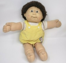 VINTAGE CABBAGE PATCH KIDS BROWN HAIR BOY W/ 2 TEETH STUFFED ANIMAL PLUS... - $55.17