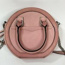 Rebecca Minkoff Bree Nubock Leather Peony Crossbody Round Chain Bag Purse - $47.02