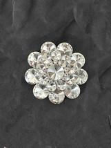 "2.5"" Diameter Large  Clear Acrylic Crystals Cluster Flower Statement Bro... - $16.25"