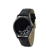 Confusing Hours Watch  Black Free shipping worldwide - $36.00
