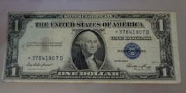 1935E Star Note $1 One Dollar Error Cut Silver Certificate BLUE SEAL.*37... - $7.00