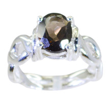 dollish Smoky Quartz Gems 925 Sterling Silver Ring handcrafted gift AU  - $22.24