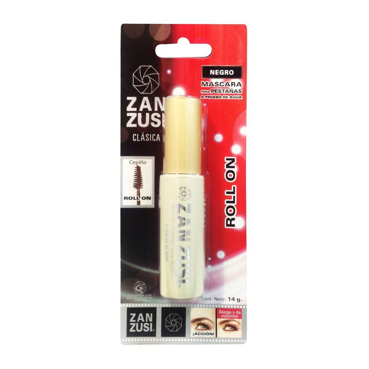 Primary image for ZAN ZUSI Waterproof Black Roll On Eyes Mascara Makeup 14g Plastic Bottle Mexico