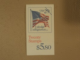 USPS Scott 2593a 29c Pledge Of Allegiance Book Of 20 1992 Stamps Mint Bo... - $20.24