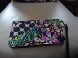 Vera Bradley  wristlet in Plum Petals medley pattern - $19.00