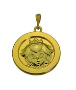 24K Gold Plated Princess Peach Pendant charm Solid Jewelry Super Mario o... - $65.33