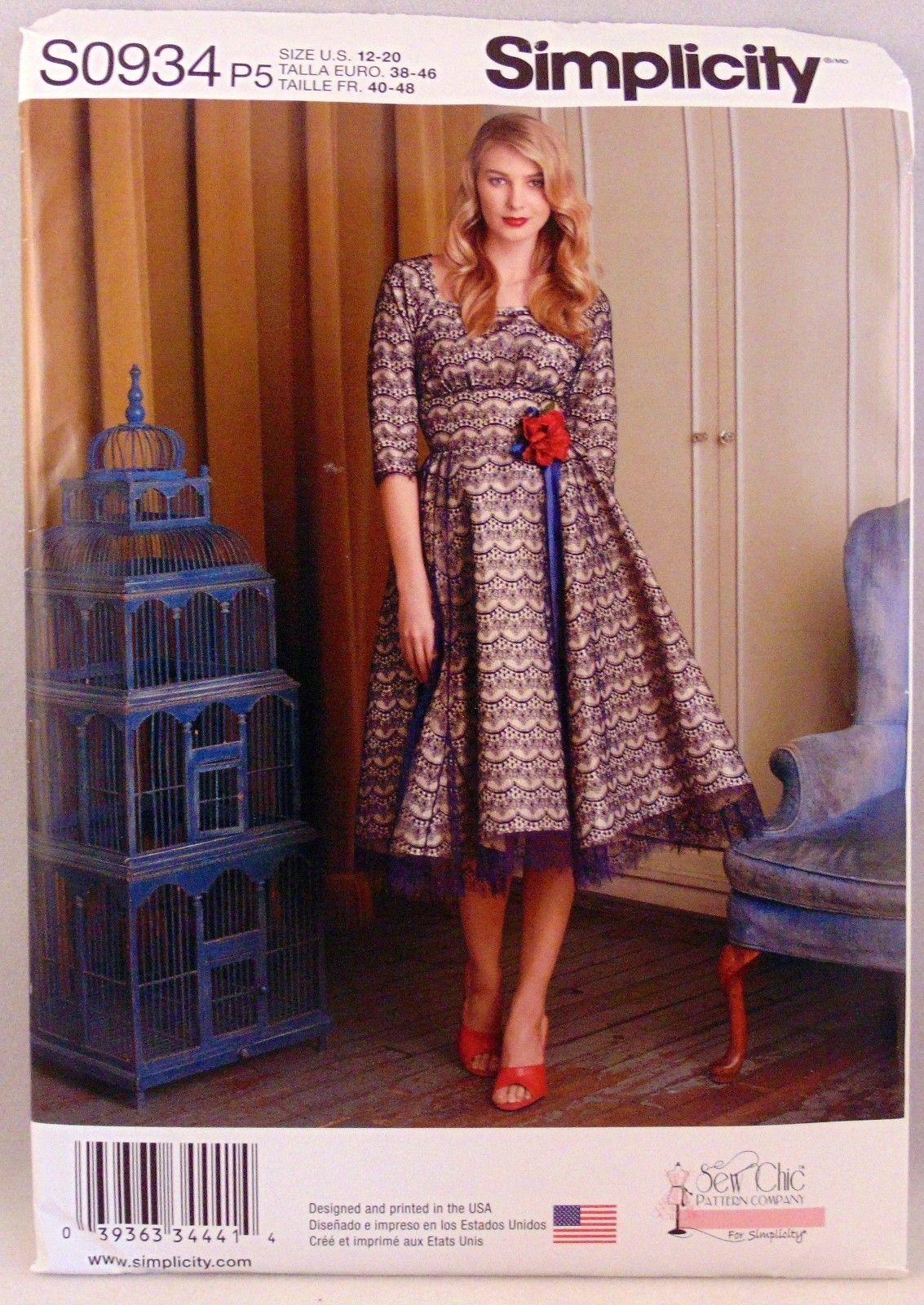 2ed2996d7d S l1600. S l1600. Previous. Simplicity S0934 dress Sew Chic Pattern Company Sizes  12-20 women s plus size