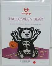 Lovepop LP1593 Halloween Bear Pop Up Card White Envelope Cellophane Wrap image 6