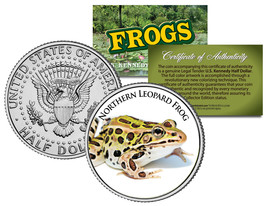NORTHERN LEOPARD FROG *Collectible Frogs* JFK Half Dollar US Colorized C... - $8.86