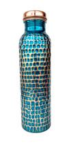 Rastogi Handicrafts Copper Hand painted water bottle For Ayurveda Health... - $33.50