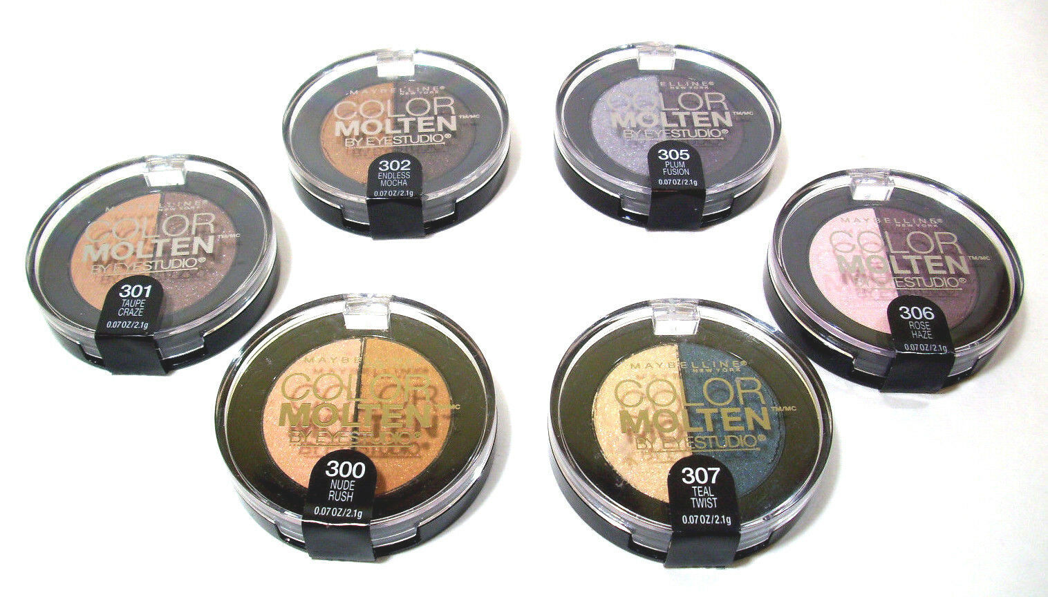 Maybelline Color Molten Cream Eye Shadow Makeup  Nude Taupe Mocha Rose Plum Teal