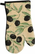 "Fabric Tapestry Kitchen Oven Mitt, 11""  OLIVES by HC - $7.91"