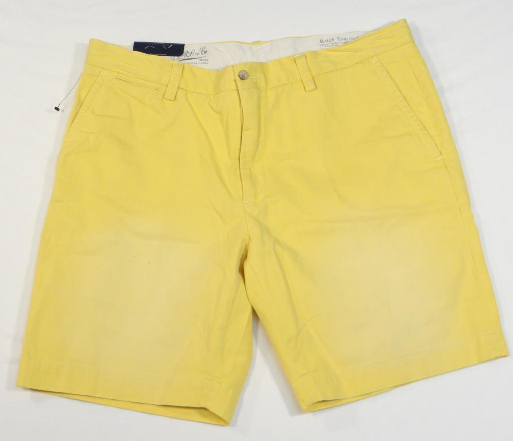 42 Polo Ralph Lauren Flat Front Yellow Shorts