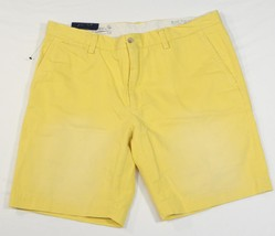 Ralph Lauren GI Fit Vintage Faded Yellow Flat Front Shorts Men's NWT - $52.49
