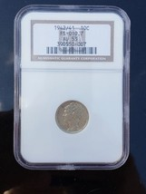 1942/1 Key Date Mercury Dime AU53 Older NGC Silver Coin Lot# 918-7