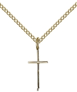 CROSS - 12kt Gold Filled Medal Pendant - 0014S - $84.99