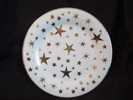 Sakura Classic Gold Stars Porcelain Desert Plate - $2.99
