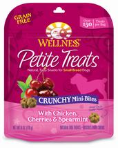 Wellness Petite Treats Grain Free Natural Crunchy Mini-Bites Chicken, Cherries - $14.59