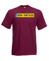 1994 Vintage Number Birthday Plate Graphic Quality t-shirt tee mens unisex - $13.44
