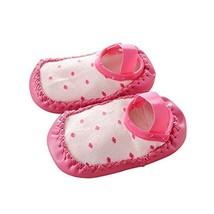 Baby Toddler Non-Slip Indoor Slipper Floor Socks Winter Warm Socks, 1 Pair (Rose