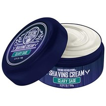 Luxury Shaving Cream Clary Sage Scent - Soft, Smooth & Silky Shaving Soap - Rich