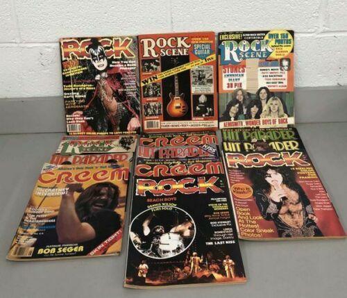 Lot (13) Vintage Rock Scene Hit Parader Creem Magazine KISS 1975-1979 Aerosmith
