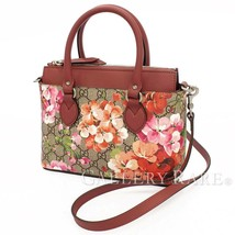GUCCI GG Blooms 2way Bag PVC Leather Pink Beige 453177 Shoulder Bag Auth... - $979.90