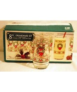 Indiana Glass Victorian Christmas Set of 8 Coolers In Box - $22.67
