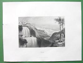 ITALY Tivoli - Antique Print Vintage Engraving - $19.80