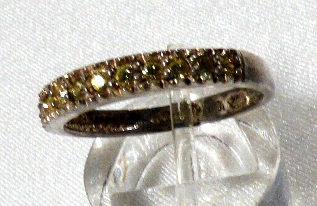 AVON STERLING SILVER 925 PERIDOT BAND RING SIZE 7.5 image 2