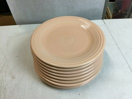 """8 Fiesta Ware Large Dinner Plates Apricot Color 10.25"""" - $148.50"""