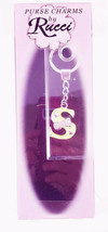 """Personalized Initial Key Chain S Made of Metal and Faux Leather 1""""x3.5""""  - $9.85"""