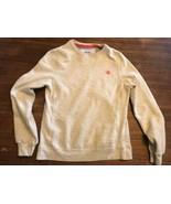 Champion sweatshirt  Gray Orange Logo Small Gussets - $20.90
