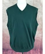 Polo Golf Ralph Lauren V-Neck 100% Pima Cotton Dark Green Vest Men's XL - $24.74